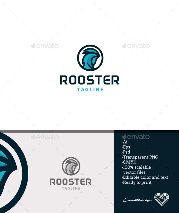 Rooster Logo Template - Animals Logo Templates