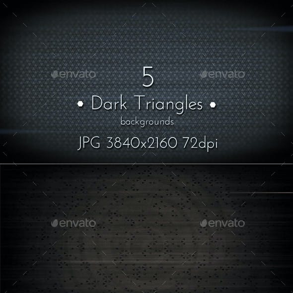 Dark Triangles Background