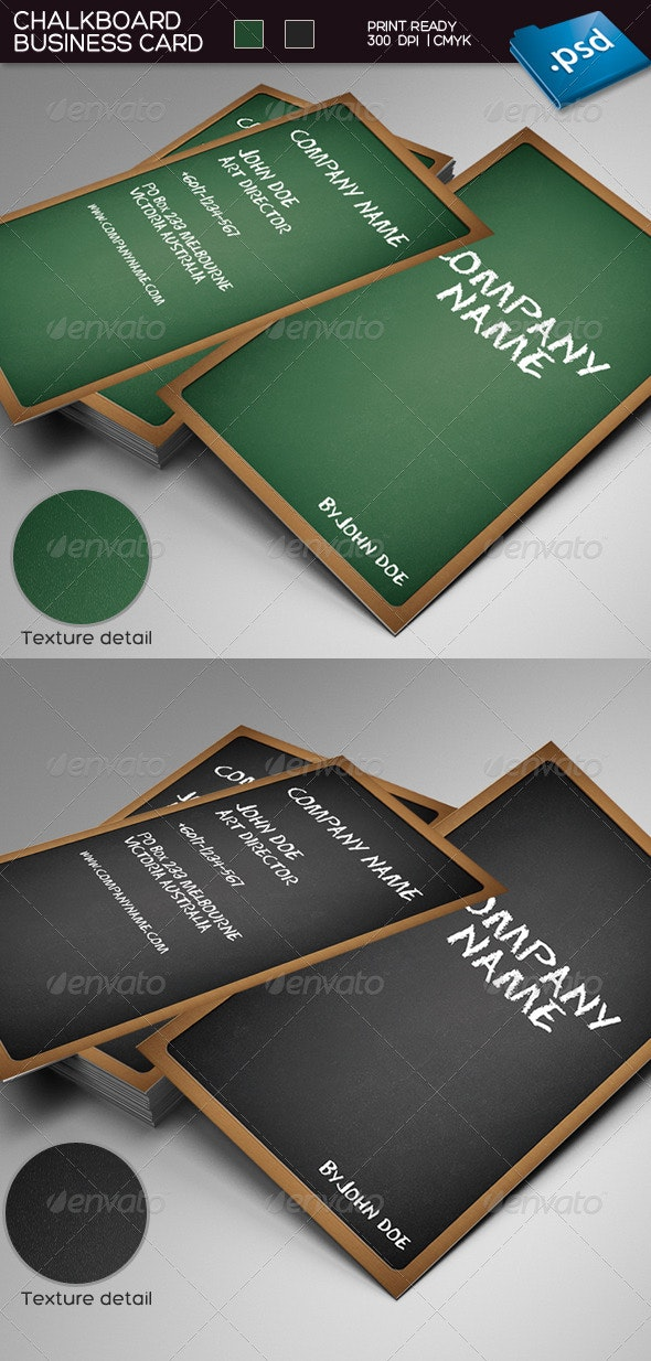 Chalkboard business card - Real Objects Business Cards