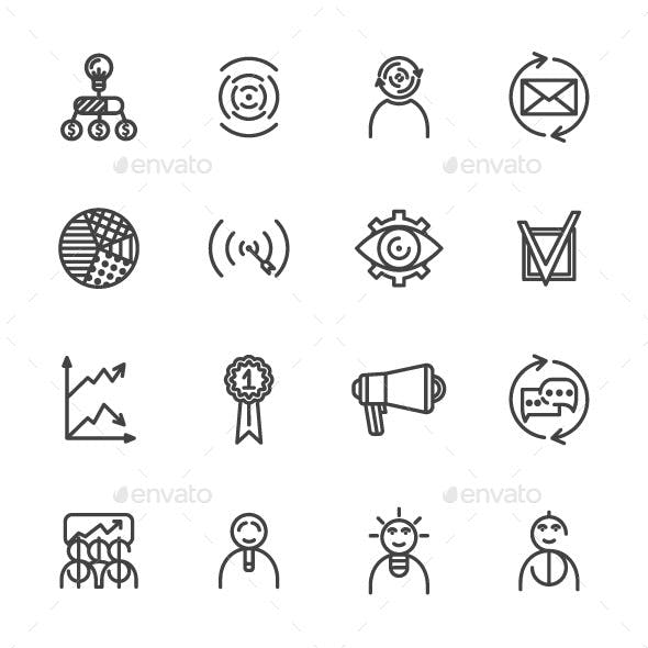 Outline Startup Icons
