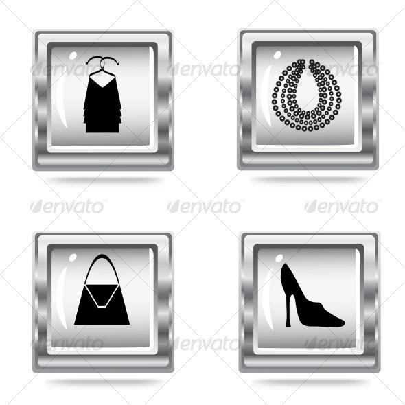 fashion icons set - Commercial / Shopping Conceptual