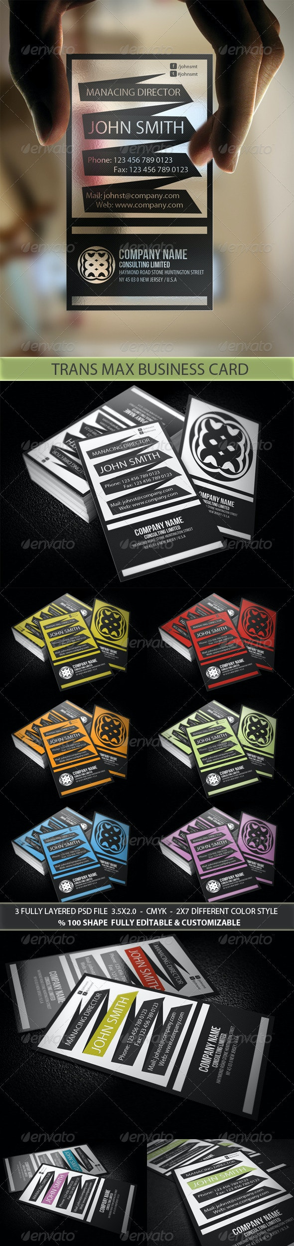 Trans Max Business Card - Creative Business Cards