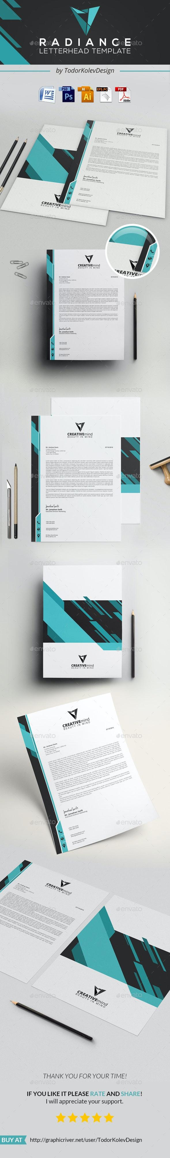 Radiance Letterhead - Stationery Print Templates