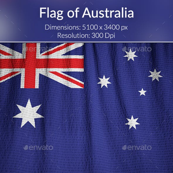 Ruffled Flag of Australia