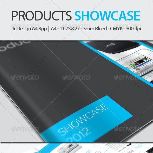 Products Showcase  - InDesign A4 8pp