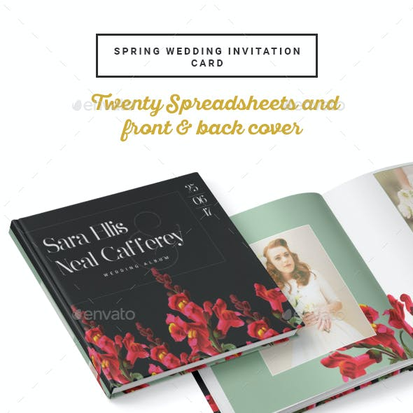 Vintage Floral Wedding Photobook/Album