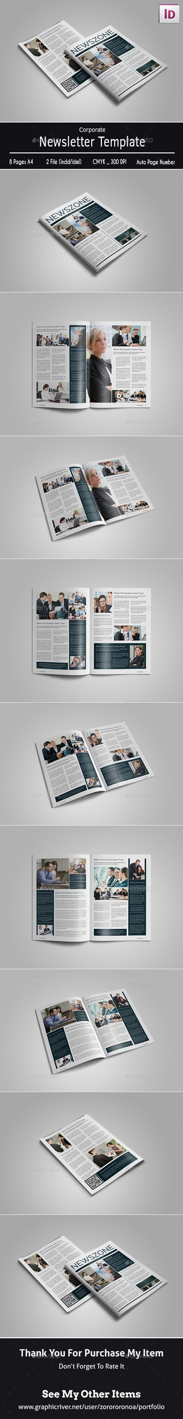 Corporate Newsletter Template - Newsletters Print Templates