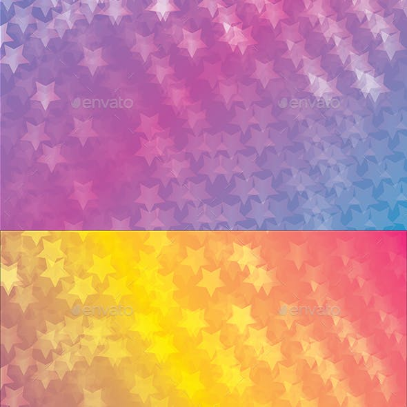 Stars Colorful Background