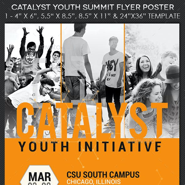 Catalyst Youth Summit Flyer Poster Template