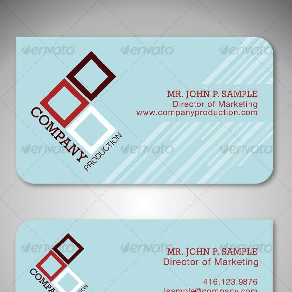 Simple Clean Graphic Business Card