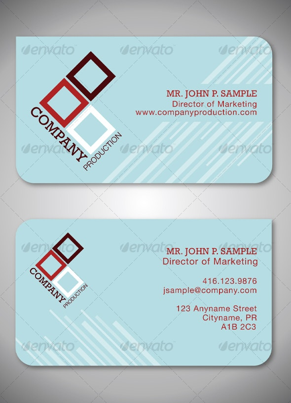Simple Clean Graphic Business Card - Creative Business Cards