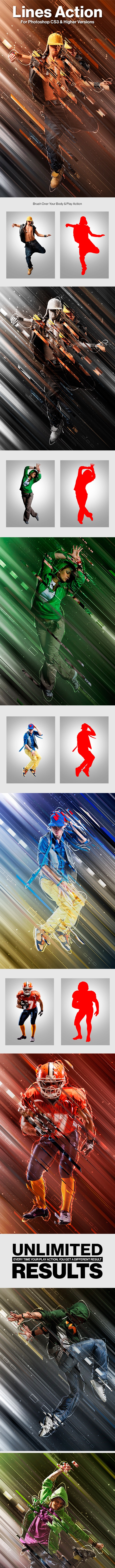 Lines Photoshop Action - Photo Effects Actions