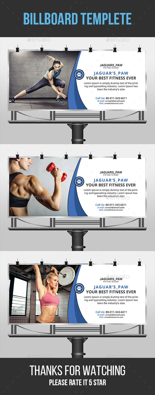 Fitness Billboard - Signage Print Templates