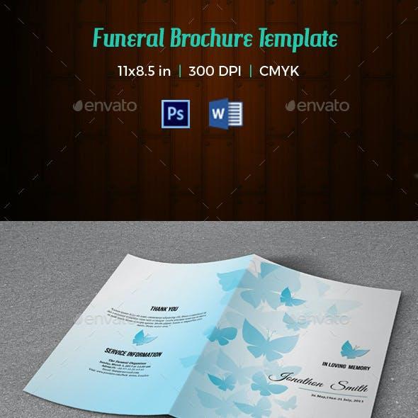 Memorial Funeral Program Template-V133