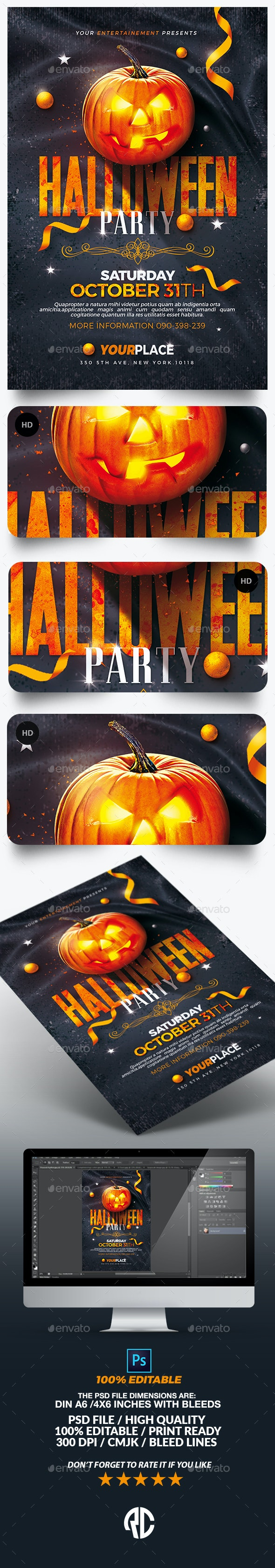 Classy Halloween Party Flyer Template - Events Flyers
