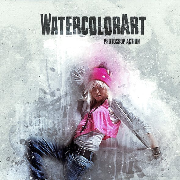 WatercolorArt - Photoshop Action