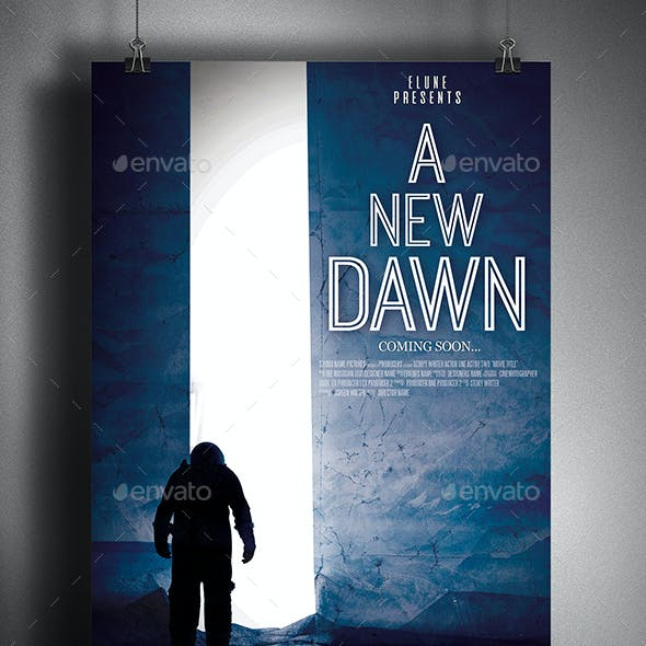A New Dawn Movie Poster Template