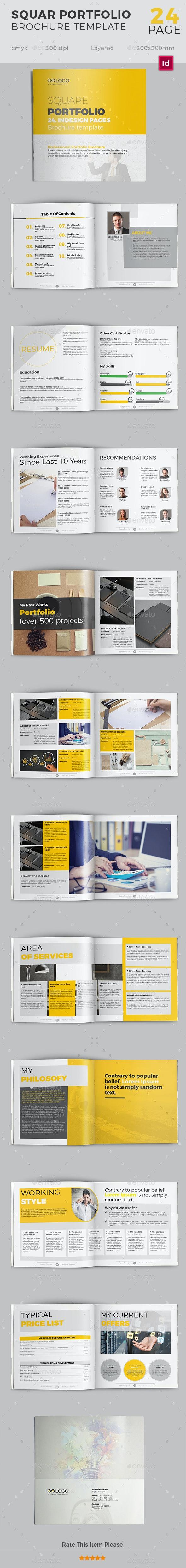 Square Portfolio Brochure Template V01 - 24 pages - Corporate Brochures