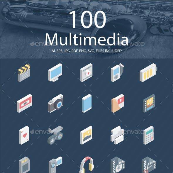 Multimedia Isomatric Icons