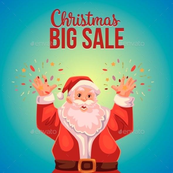 Christmas Sale Banner With Cartoon Half Length - Christmas Seasons/Holidays