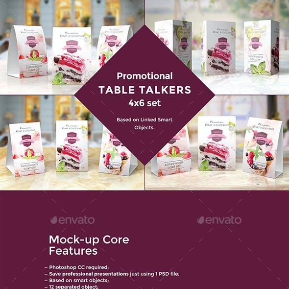 Promotional Table Talkers Mock-up's Bundle