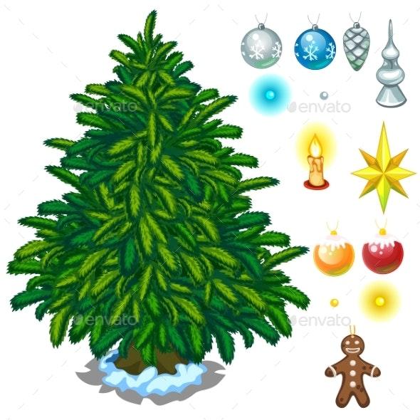 Christmas Tree And Big Toy Set For Decoration - Christmas Seasons/Holidays