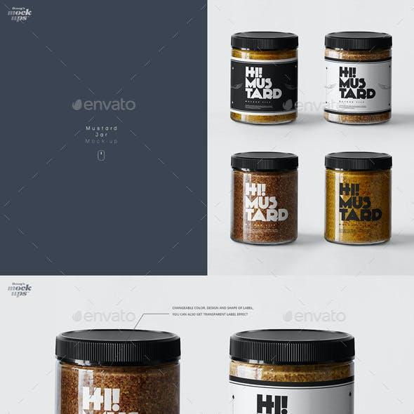 Mustard Jar Mockup