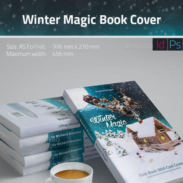 Winter Magic Book Cover Template