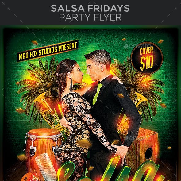 Salsa Fridays Party Flyer