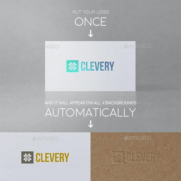 Photorealistic Logo Presentation Mockup Vol 1.0