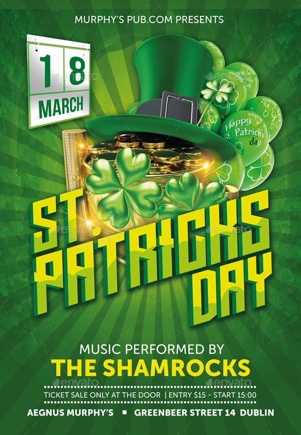 St. Patricksday Flyer - Events Flyers