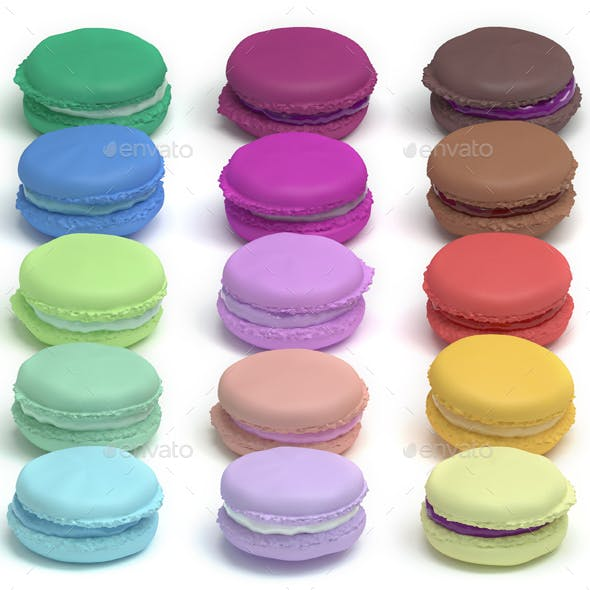 Sweet Colorful Confectionery Macarons