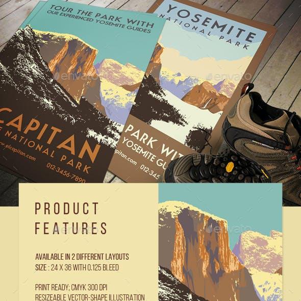 Vintage Yosemite Travel Poster