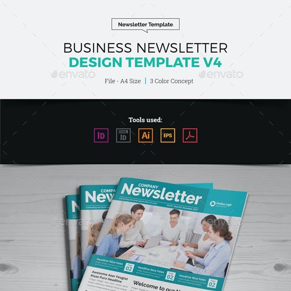 Newsletter Design Template v4