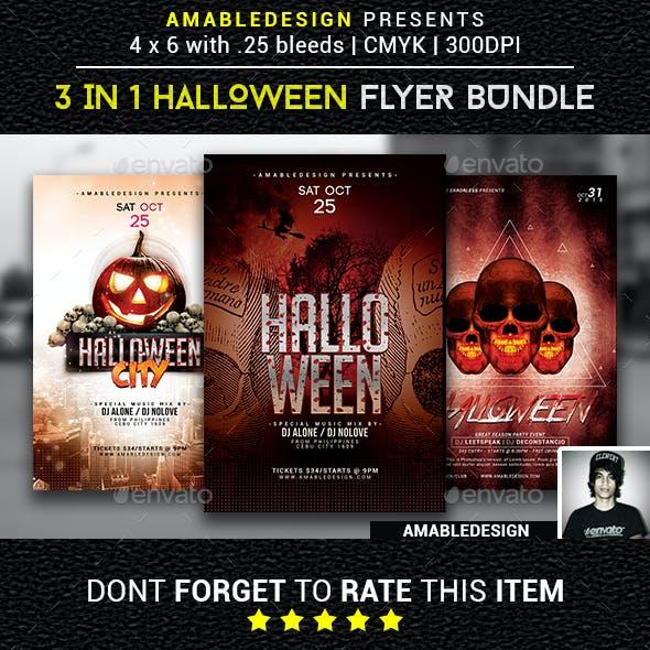 3 in 1 Halloween Flyer/Poster Vol.1