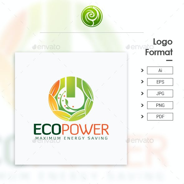 Eco Power Logo - Maximum Energy Saving