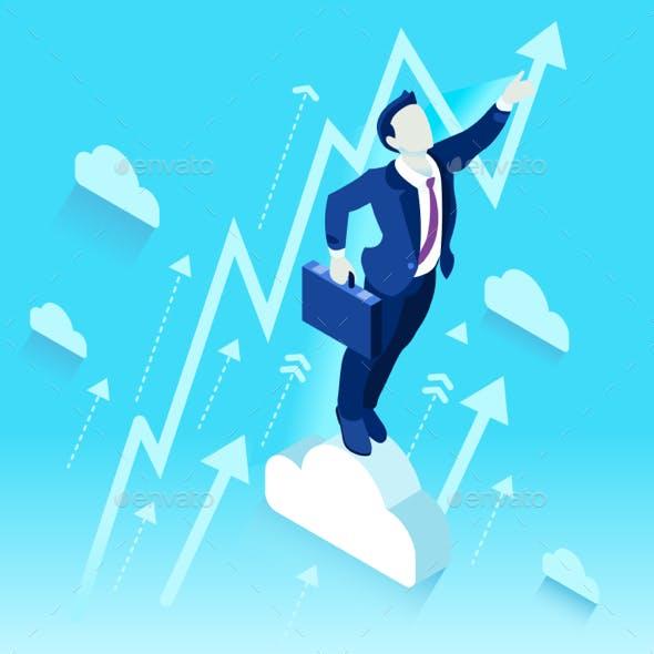 Ambitious Business Change Job Ambitions Concept