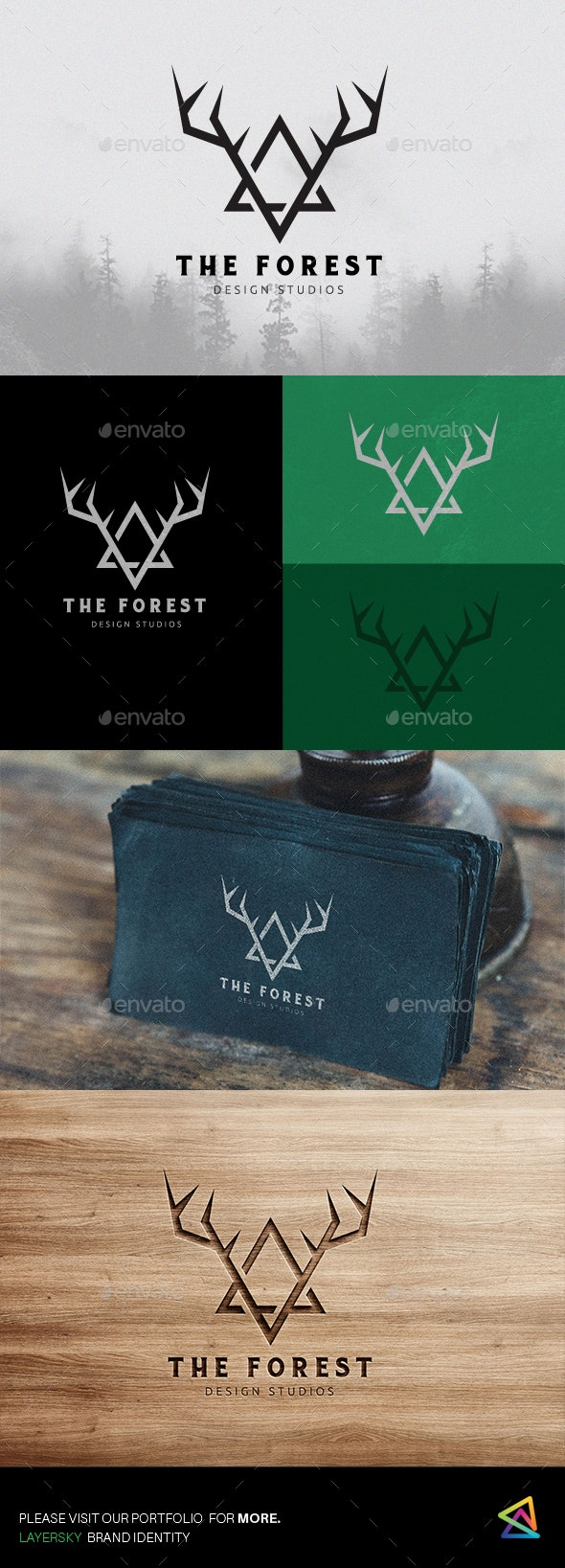 The Forest Logo - Animals Logo Templates