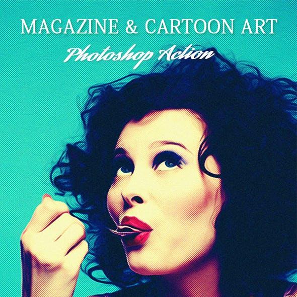 Magazine & Cartoon Art Action