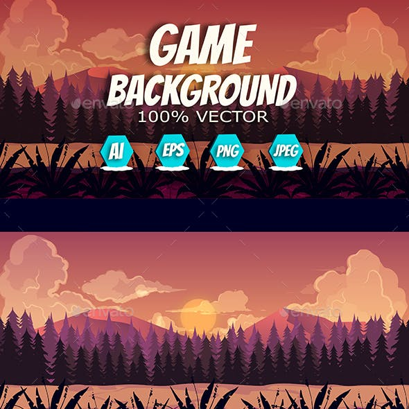 2d Forest Game Background