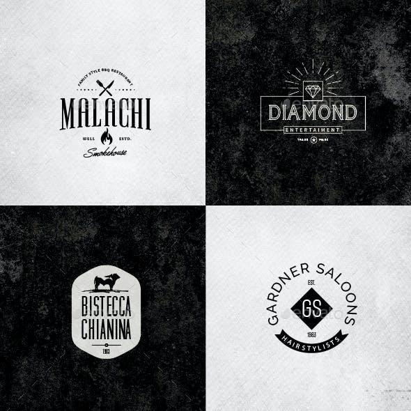 Retro Vintage Minimal Logos Vol.03