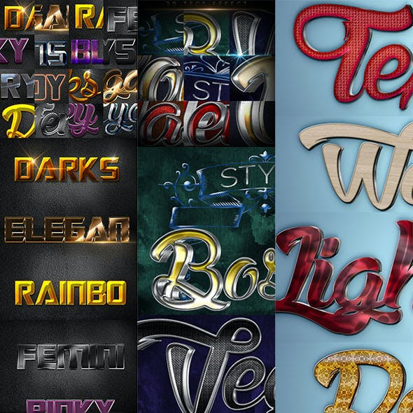 26 Bundle 3D Text Effect