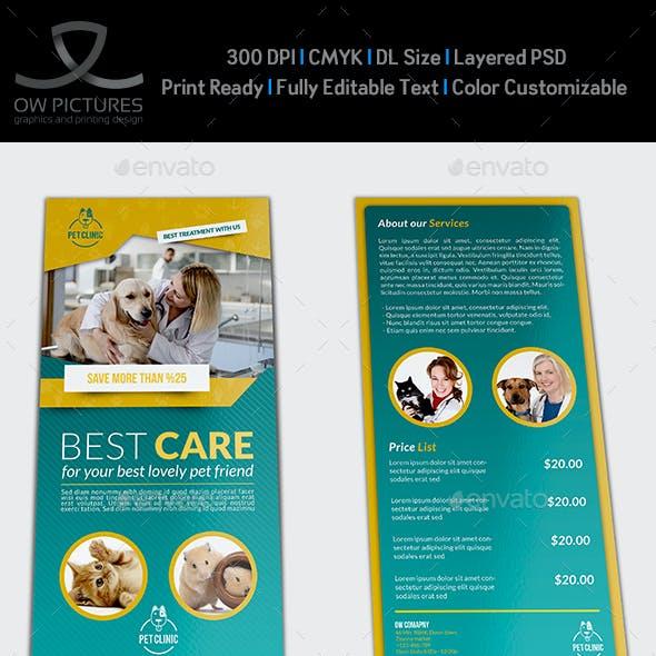 Veterinarian Clinic DL Flyer Template