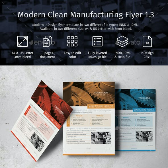 Modern Clean Manufacturing Flyer