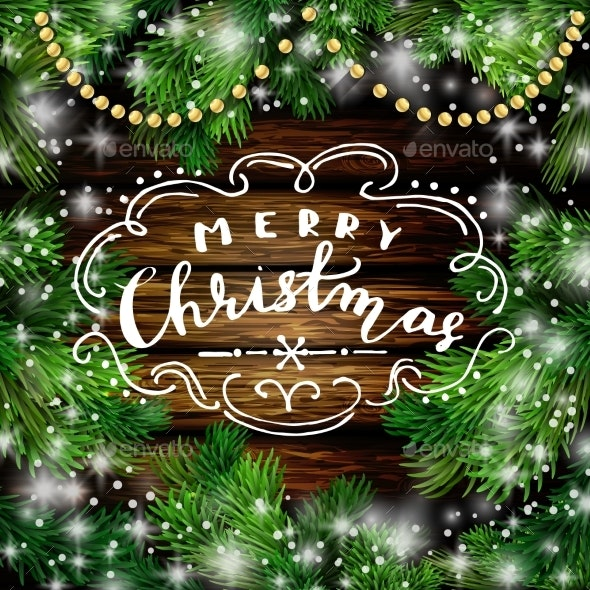 Christmas New Year Design Wooden Background - Christmas Seasons/Holidays