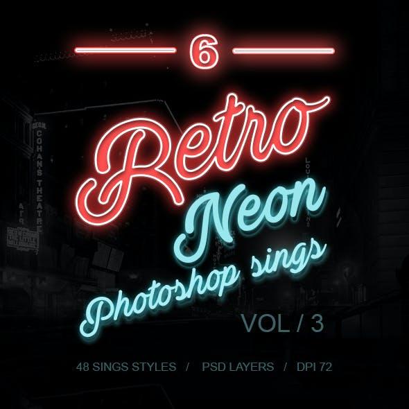 6 Retro Neon Sings