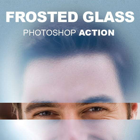 Frosted Glass Photoshop Action