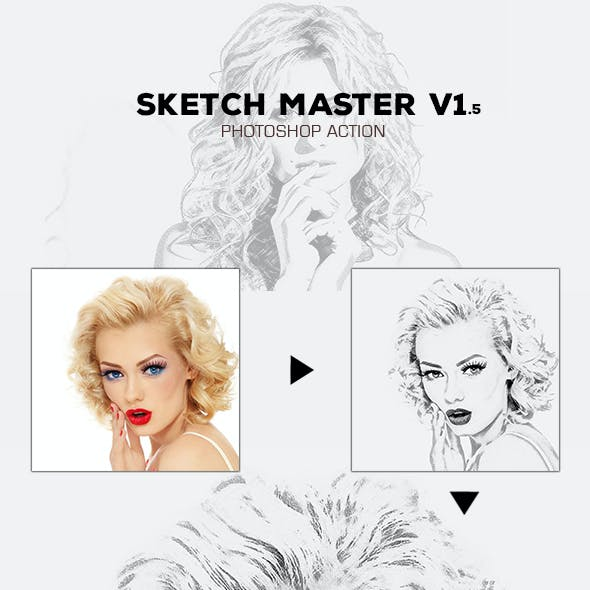 Sketch Master V 1.5 - Photoshop Action #27