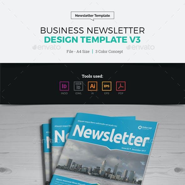 Newsletter Design Template v3