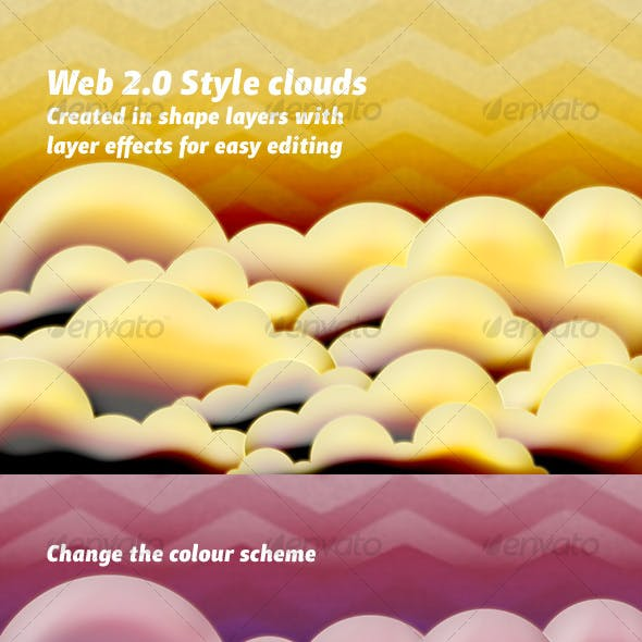 Web 2.0 Clouds Background